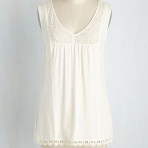 Gorgeous Modcloth Ivory Tank Top